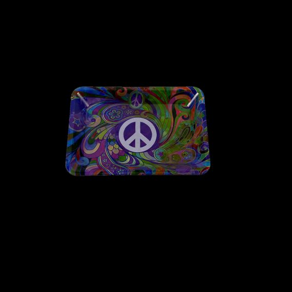 peace sign rolling tray