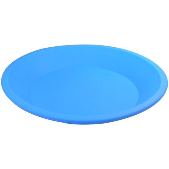 nogoo-nonstick-silicone-8-round-plate-blue