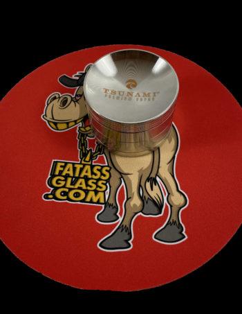 tsunami glass silver tobacco grinder