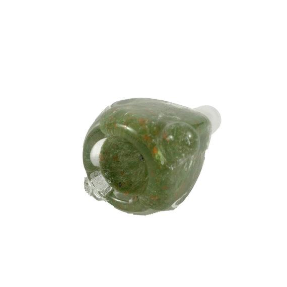 14mm Male Glass Bong Slide (Green)