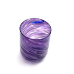 Purple swirl handblown glass tumbler