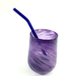 glass drinking straw