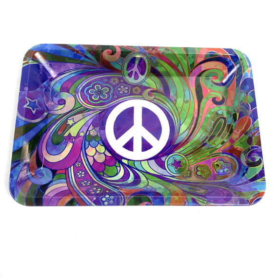peace rolling tray trippy