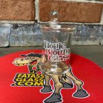 home blown glass q-tip iso jar